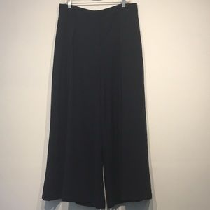 Elevenses Navy Blue Wide Leg Pants